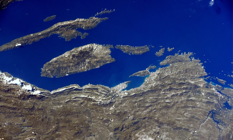 Croatian coastline from space