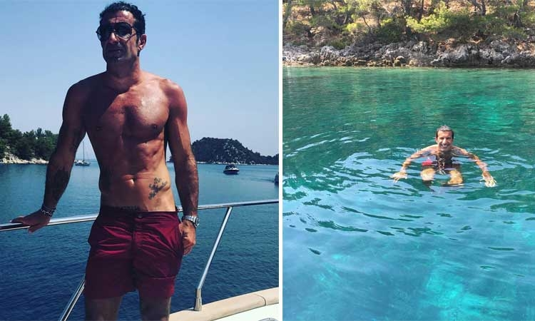 Luis Figo looking relaxed in Croatia