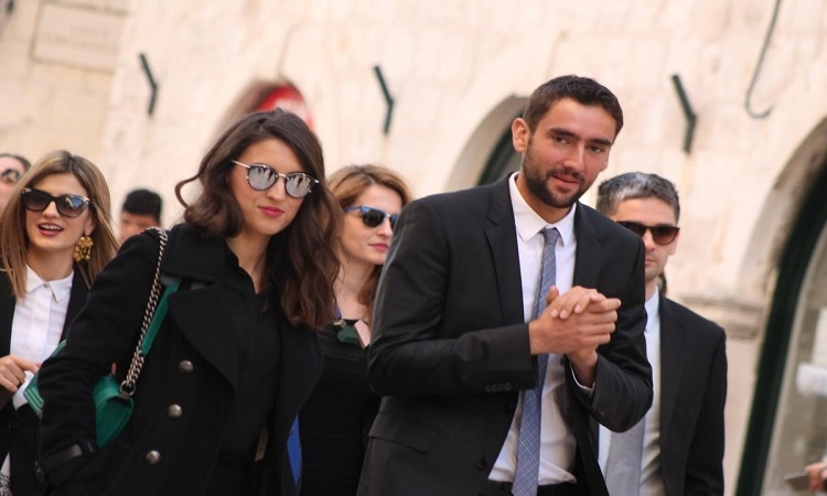 Kristina Milkovic and Marin CIlic in Dubrovnik