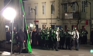 VIDEO – Knights and priests march into Dubrovnik in Robin Hood scene