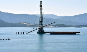Chinese builders finish first stage of Peljesac Bridge ahead of time