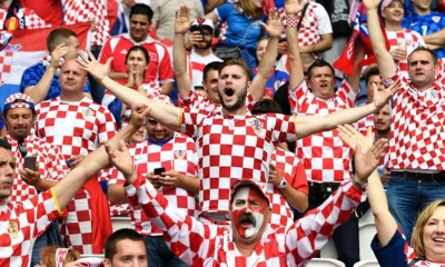 Watch the Croatia Russia match on video wall inside Old City of Dubrovnik