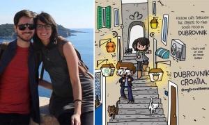 ALFONSO DIAZ – bringing Dubrovnik to life through traveltoons