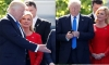 Try to find someone who is looking at you just as the President of Croatia looks at Trump