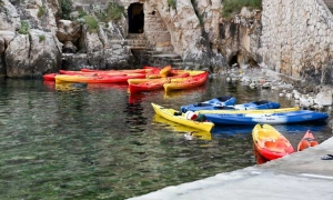 Old position of kayaks in Dubrovnik
