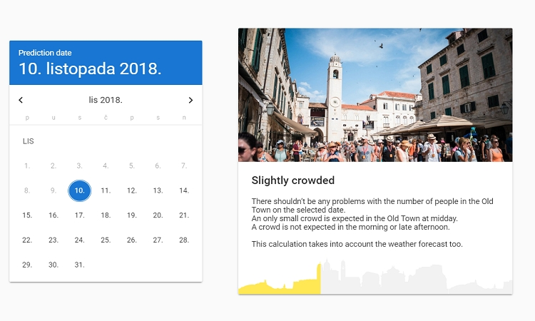 Application that predicts the number of visitors to the Old City launched