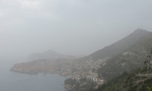 "Dubrovnik in the ""foggy"" distance"