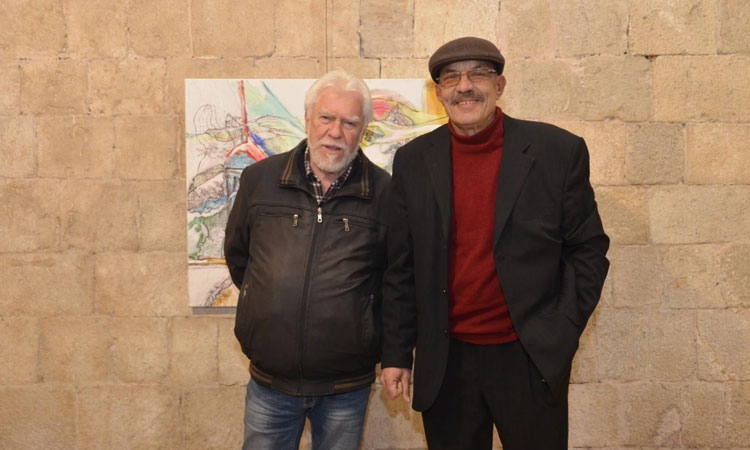 Lukša Obradović (right) opens new exhibition