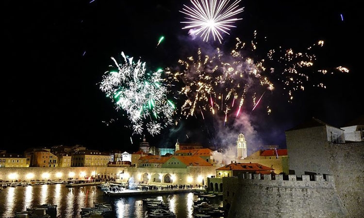 Fireworks light up Dubrovnik sky