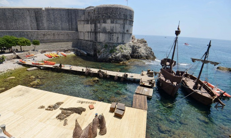 Filming ready for Knightfall in Dubrovnik