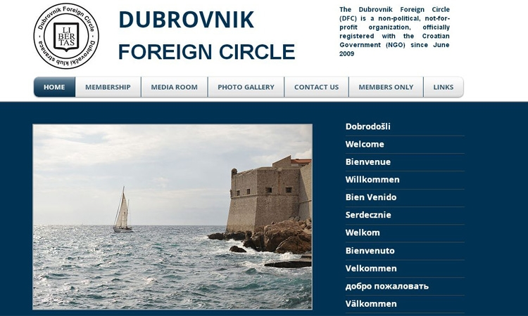 The Dubrovnik Foreign Circle is giving the city an international voice