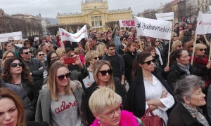 Protests against domestic violence sees thousands on the streets of Croatia