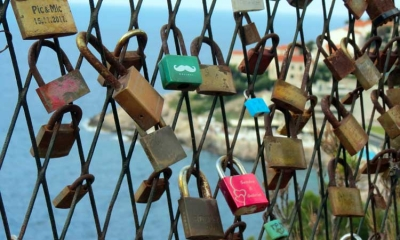Love padlocks in Dubrovnik