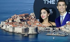 Cristiano Ronaldo arrives in Dubrovnik for a romantic Easter break with Spanish stunner girlfriend