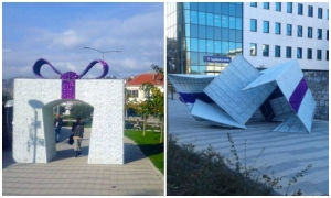 Photo – The biggest Christmas present in Dubrovnik smashed by the strong wind
