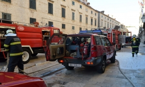 Dubrovnik fire-brigade on the scene