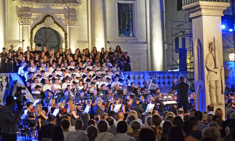 Carmina Burana lights up Dubrovnik night sky
