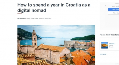 Lonely Planet highlights Croatia as a destination for digital nomads