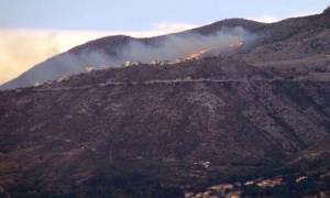 Forest fire on Croatian border lights up night sky