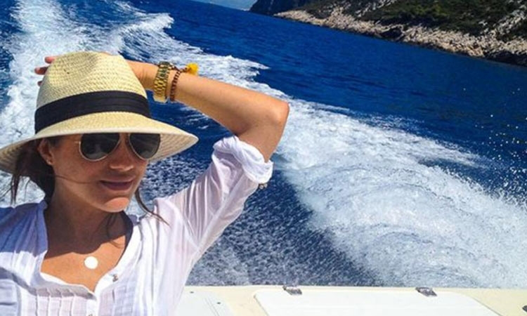 Meghan Markle enjoying the Croatian Adriatic