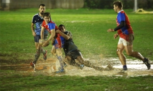 Rugby in the Dubrovnik rain