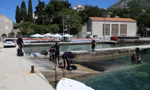 Underwater cleaning action carried out in Mlini